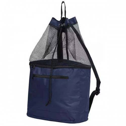 Two Compartment Drawstring Cooler Bag Mesh Bag