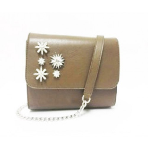 Detailed Ladies Full Grain Leather Cross Body Bag