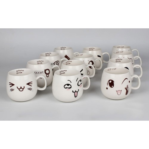 Creative Cartoon Ceramic Cup( custom made logo)