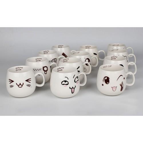 Creative Cartoon Ceramic Cup( custom made logo)