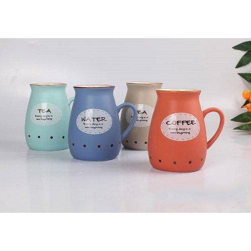 Creative ceramic Milk Cup ( custom made logo )