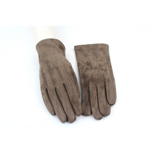Ladies' Fall Winter Suede Gloves