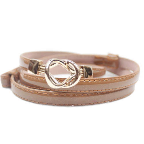 Ladies' Glossy Imitated Leather Belt