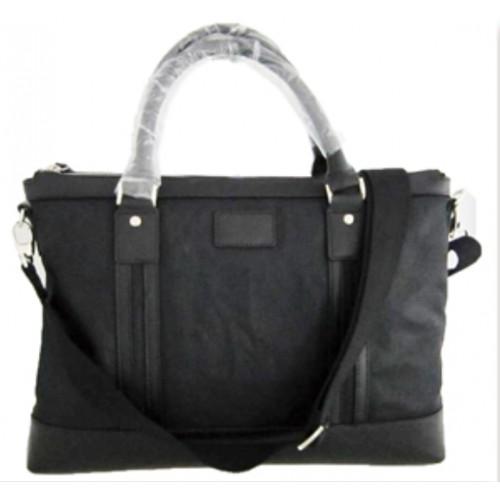 Men's Split Leather with Nylon Tote Bag /Cross Body Bag