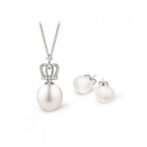 TOSCOW 'Tiara' Sterling Silver Pearl Pendant