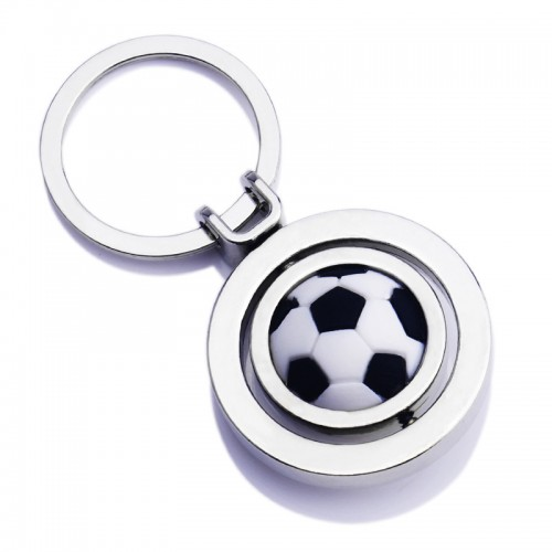 Rotating Soccer Keychain , World Cup Soccer Keychain- Promotional Gifts