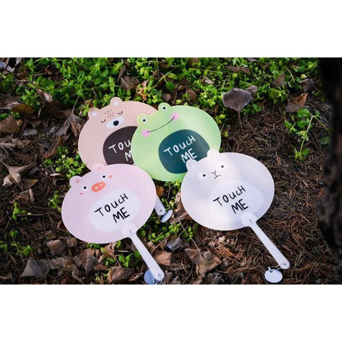 Advertising plastic fan