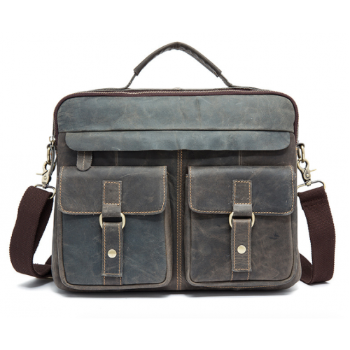 Men's Leather  Messenger Bag / Computer Bag