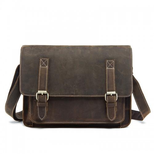 Men's Leather Messenger Bag / Computer Bag