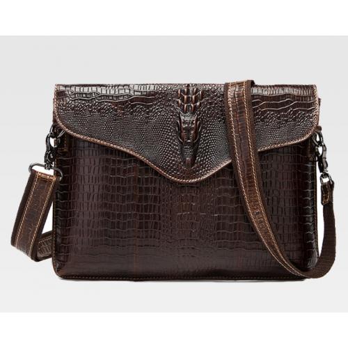 Men's Leather Messager Bag / Cross Body Bag