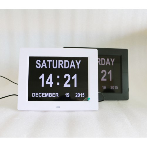 8-inch single-function digital electronic clock / calendar