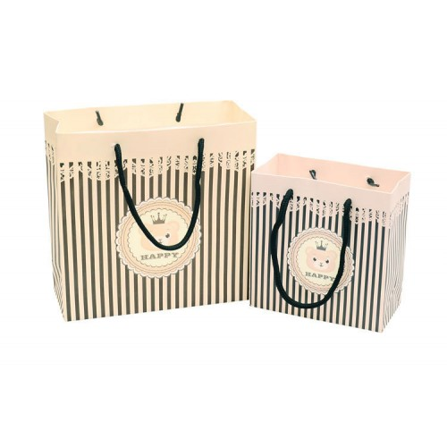 Striped Pattern Paper Bag/ Gift Bag