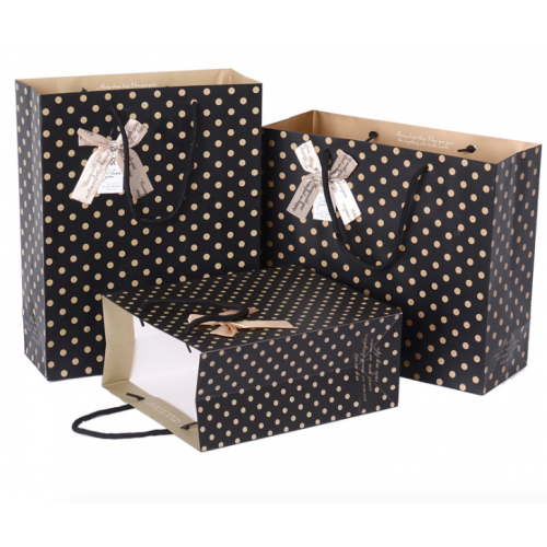 Thickened Spot Pattern Gift Bag / Paper Bag