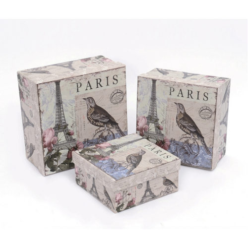 Paris Tower pattern Gifts Box -3 in one set
