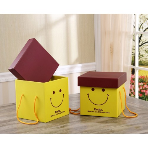 Creative Yellow Smiling Face Custom Made Gift Box/Wedding Favors Box