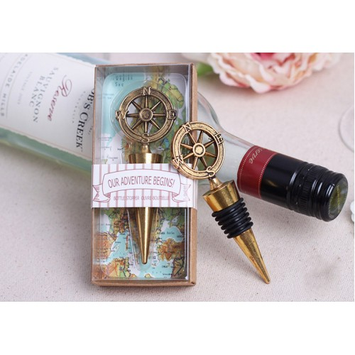 Wedding Favors / Business Gifts -Vintage Alloy Red Wine Stopper, Champagne Stopper