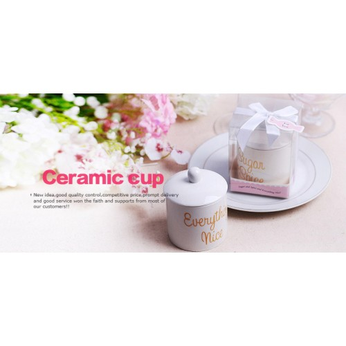 Wedding Gifts / Wedding Favors/Home Appliances -Ceramic Sugar Cans
