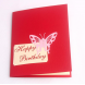 3D Birthday Cake Greeting Card / Blessing Card