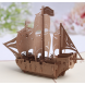 Creative 3D Sailing Boat Business Greeting Cards