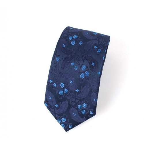 Blue Floral Mens' Fashion Tie