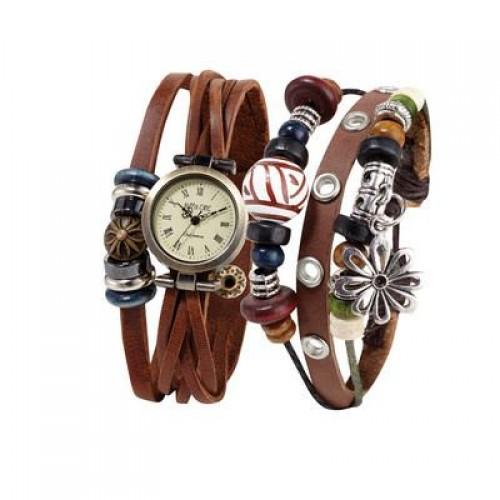 HIPPIE CHIC Woodstock Watch and Boho Bracelet Set