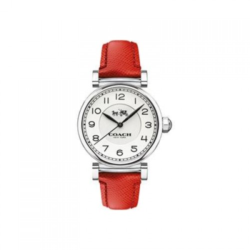 COACH Madison Fashion SS Red Leather Strap