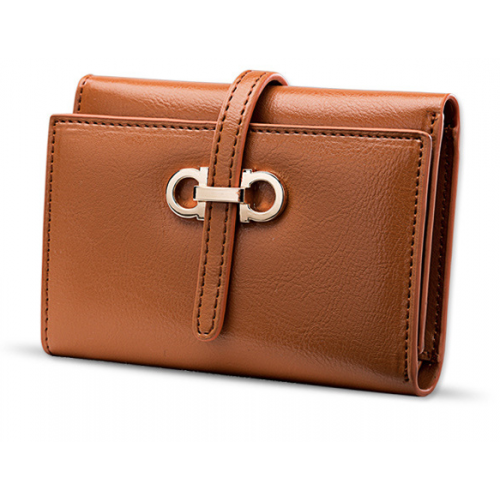 Ladies' Cow Leather Short Wallet