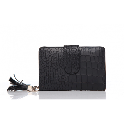 Ladies' Cow Leather Crocodile Pattern Wallet