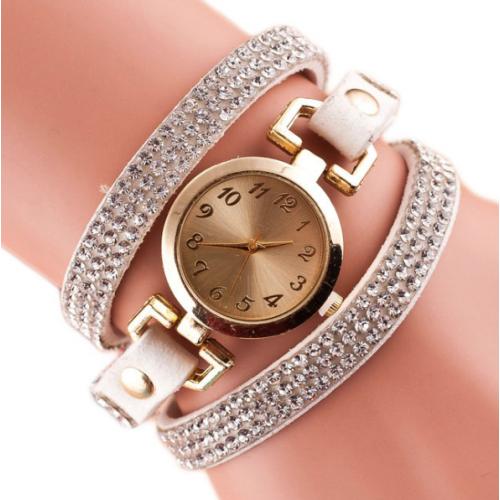 Fashionable Velvet Strap Ladies' Watch