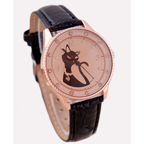 Fashionable Kitten Quartz Watch