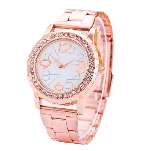 High-end Crystal Detailed Leisure Watch