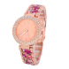 Fashionable Crystal Detailed Quartz Watch
