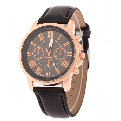 High-Quality Leather Quartz Watch