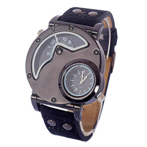 Fashionable Canvas Strap Sporty Quartz Watch