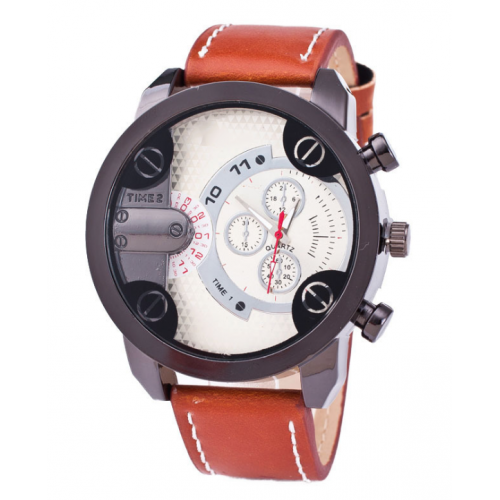 Men's Imitation Leather Leisure Sporty Watch