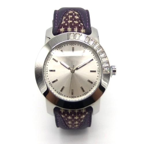 Ladies' Alloy Genuine Leather Quartz Watch