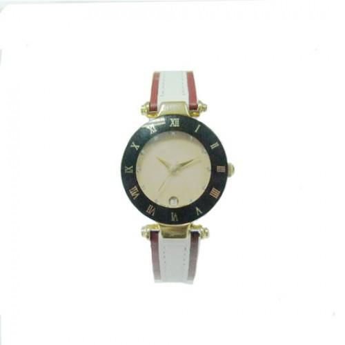 Ladies' Fashionable Genuine Leather Quartz Watch